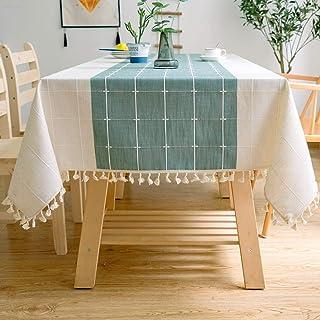J-MOOSE Nappe Solide Broderie À Carreaux Gland Coton Couverture De Table en Linge pour Cuisine Salle À Manger Décoration d...