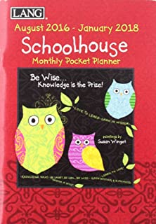 Schoolhouse August 2016-January 2018 Monthly Pocket Planner
