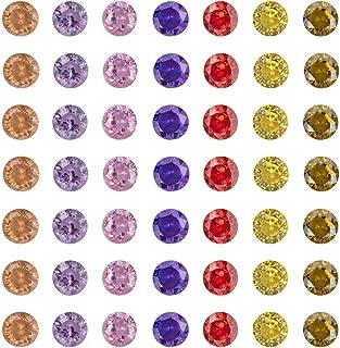NBEADS 1000pcs Cubic Zirconia Cabochons, Grade A, Faceted, Diamond, Mixed Color, 3x2mm