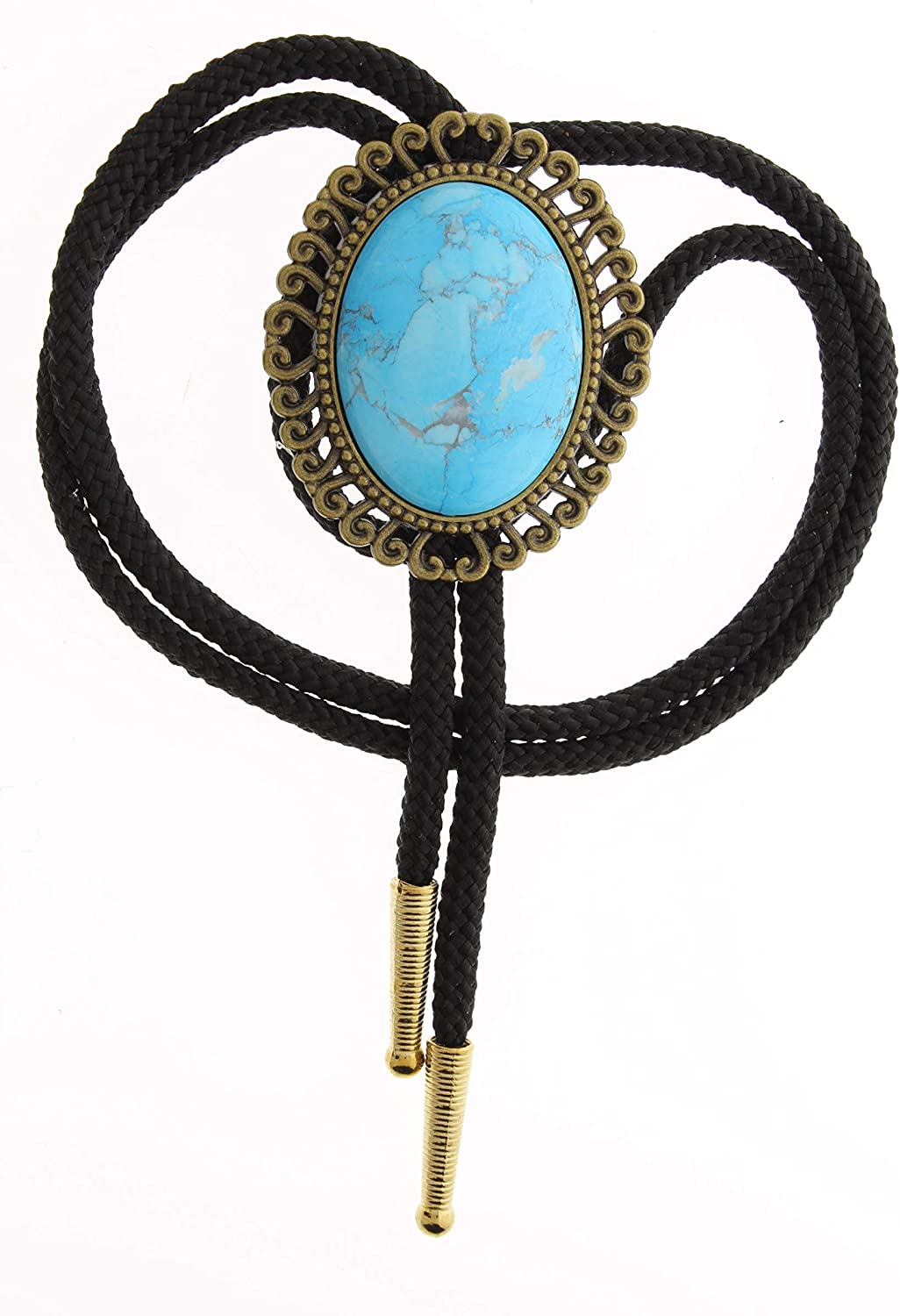 Turquoise Died Howlit stone Oval Bolo Max 90% OFF b IN Max 43% OFF sold MADE USA