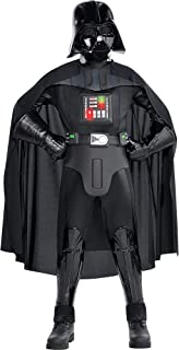 Costumes USA Star Wars Darth Vader Costume Supreme for Boys, Includes a Jumpsuit, a Mask, a Cape, and More