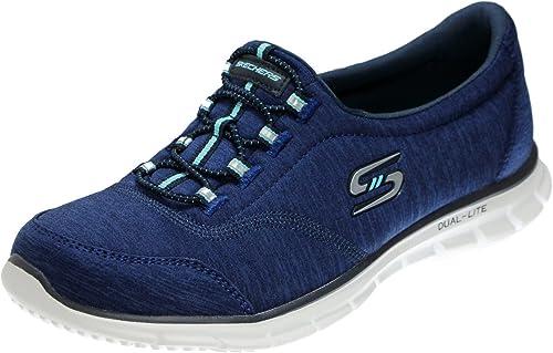 Skechers Skechers22708 22708 Femme, Bleu (Navy blanc Turqouise), 38.5 C D EU