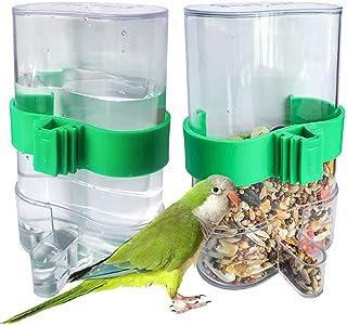 Alimentador Automático De Pájaros Para Loros Dispensador De Agua Para Pajaros Mascotas Alimento Automático Alimentador De ...