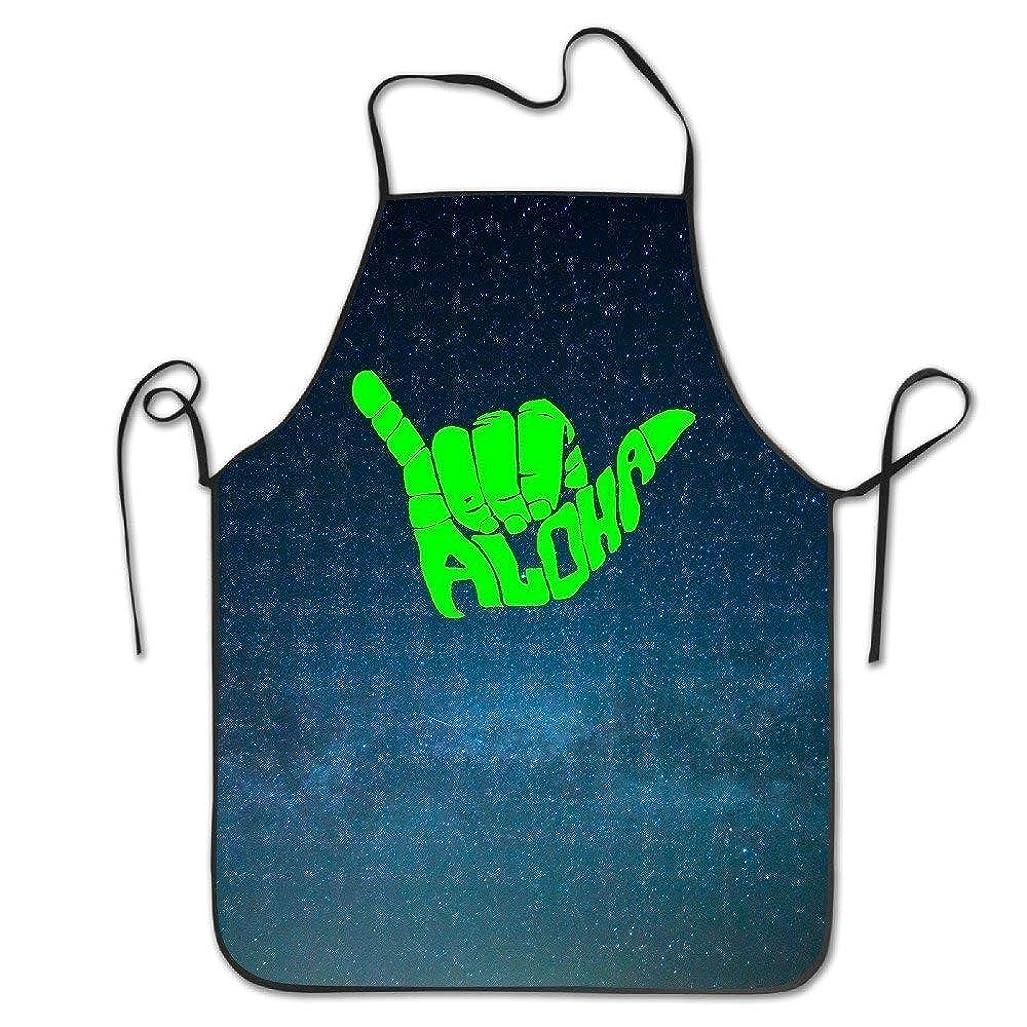 距離高音実験室Aloha Hand Hawaii Symbol Adjustable Bib Apron Adult Home Kitchen Apron Chef Apron For Men And Women