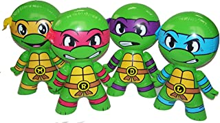 4 Assorted Teenage Mutant Ninja Turtles 24 Inch TOY Inflatables Assorted Styles