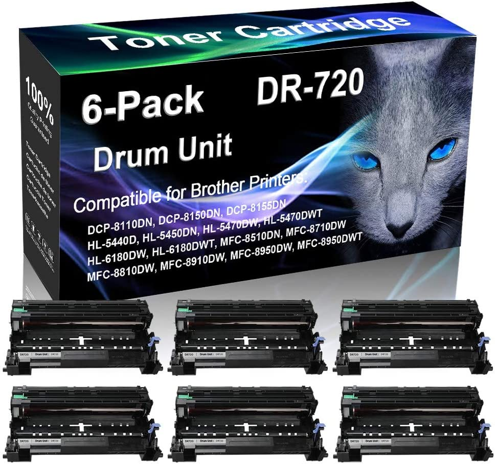 6-Pack Black Compatible Excellent Laser Drum Replac Capacity High Mail order cheap Unit