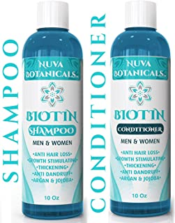 Biotin Shampoo and Conditioner Set For Hair Growth – Natural Thickening Treatment For Hair Loss and Thinning – Stimulate Thicker Regrowth - Sulfate Free & Paraben Free – For Women and Men