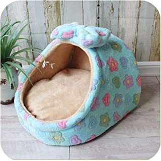 New Dog House Cat Bed Puppy Bed Blanket Cat House Dog Bed Mat Kennel Nest Pet Bed Sofa Removable Pillow Mat