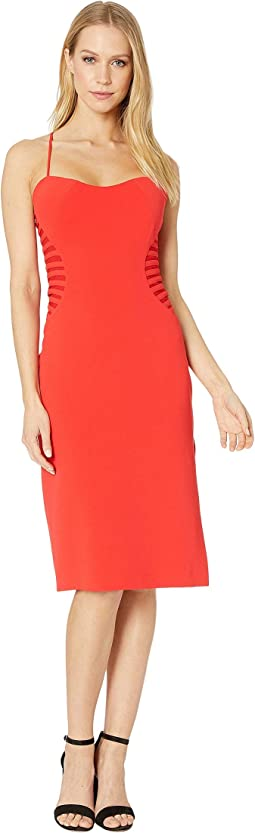 Sleeveless Slip Dress w/ Strip Applique