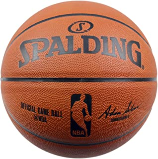 SPALDING斯伯丁篮球 TF-100名人堂经典蓝球 牛皮材质7号标准尺寸室内用球 62-1098/74-569Y
