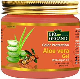 Indus Valley Bio Organic Hair Color Protection Aloe Vera Gel With Argan Oil For Rich Colour & Shiny Hair. (175ml)