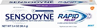Sensodyne Rapid Relief Sensitivity Toothpaste for Sensitive Teeth, Mint, 3.4 Ounce
