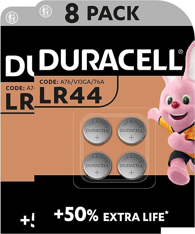 160658 opiniones para Duracell- Pilas especiales alcalinas de botón LR44 de 1,5V, paquete de 8