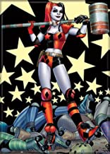 """Ata-Boy DC Comics Roller Derby Harley Quinn 2.5"""" x 3.5"""" Magnet for Refrigerators and Lockers"""