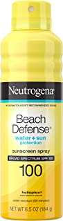 Neutrogena Beach Defense Spray Sunscreen with Broad Spectrum UVA/UVB SPF 100, Fast Absorbing Sunscreen Spray, Water-Resist...