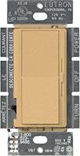 Lutron Diva C.L Dimmer for Dimmable LED, Halogen and Incandescent Bulbs, Single-Pole or 3-Way, DVSCCL-153P-GS, Goldstone
