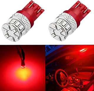 Alla Lighting Xtreme Super Bright 168 194 LED Lights Bulbs T10 Wedge 3014 18-SMD, Pure Red 12V W5W 2825 Cars, Trucks, Inte...