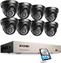 ZOSI H.265+ 1080P Home CCTV Security Camera Systems 2MP 8 Channel 1TB Hard Drive Recorder with 8 CCTV Cameras Motion Detec...