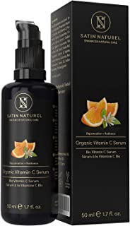 Serum Facial de Vitamina C ORGÁNICO con Acido Hialuronico 50ml - Doble Complejo MEJORADO 30% Vitamina C + E y Aloe Vera - ...