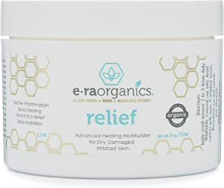 Era Organics Eczema, Psoriasis & Rash Cream - Extra Strength 15-in-1 Non-Greasy Soothing Moisturizer with A...
