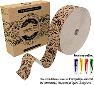 Dynamic Tape 101 feet Bulk Roll Black Biomechanical, Therapeutic, Sports, Clinician Designed for Performance Fitness Athletes, Protect & Assist Motion, Injury Recovery, Hypoallergenic & Latex Free