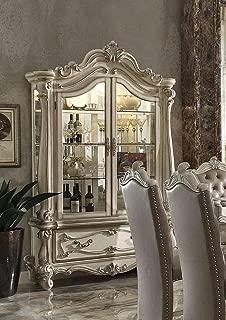 ACME Versailles Bone White Curio Cabinet