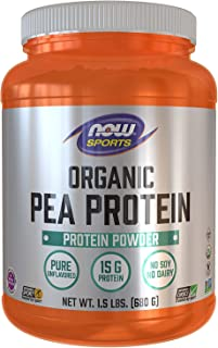 Now Foods Organic Pea Protein, Natural Unflavored, 1.5 lbs (680 g)