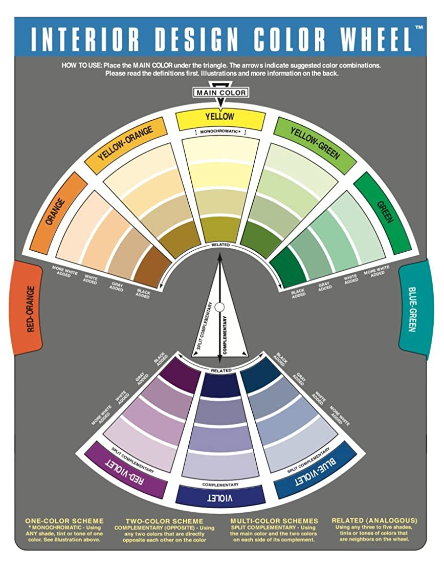 進む注入エンドテーブルThe Color Wheel Company Interior Design Wheel interior design color wheel by The Color Wheel Company