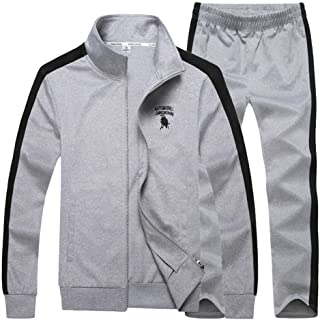 WANSHIYISHE Mens Long Sleeve Camo Hooded Casual Sweatshirt Coat Pant Tracksuit