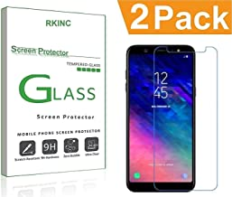 RKINC forSamsung A6 PlusScreen Protector, [2 Pack] Crystal Clear Tempered Glass Screen Protector [9H Hardness][2.5D Edge][0.33mm Thickness][Scratch Resist] forSamsung Galaxy A6 Plus
