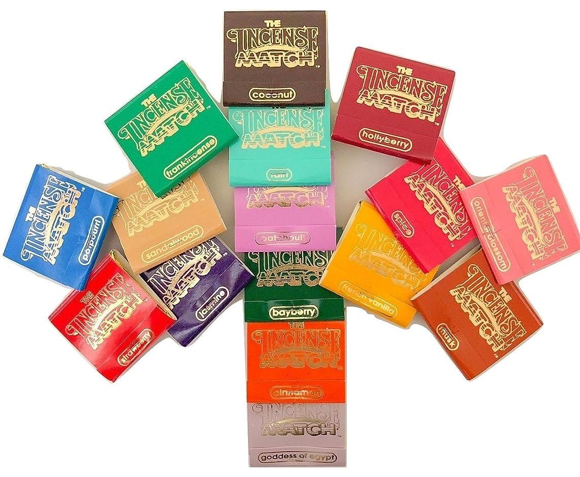 高齢者日食主婦Incense Matches: Lot of 10 Assorted Variety Scented Match Books, 300 strikes