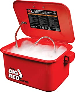 Torin Big Red Steel Cabinet Parts Washer with 110V Electric Pump, 3.5 Gallon Capacity