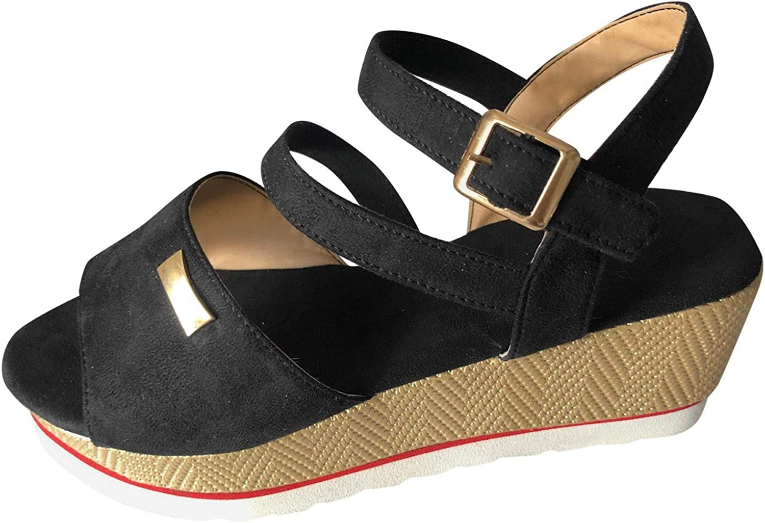 Fashion Women's Casual Shoes Breathable Slip-on Outdoor Leisure Wedges Sandals
