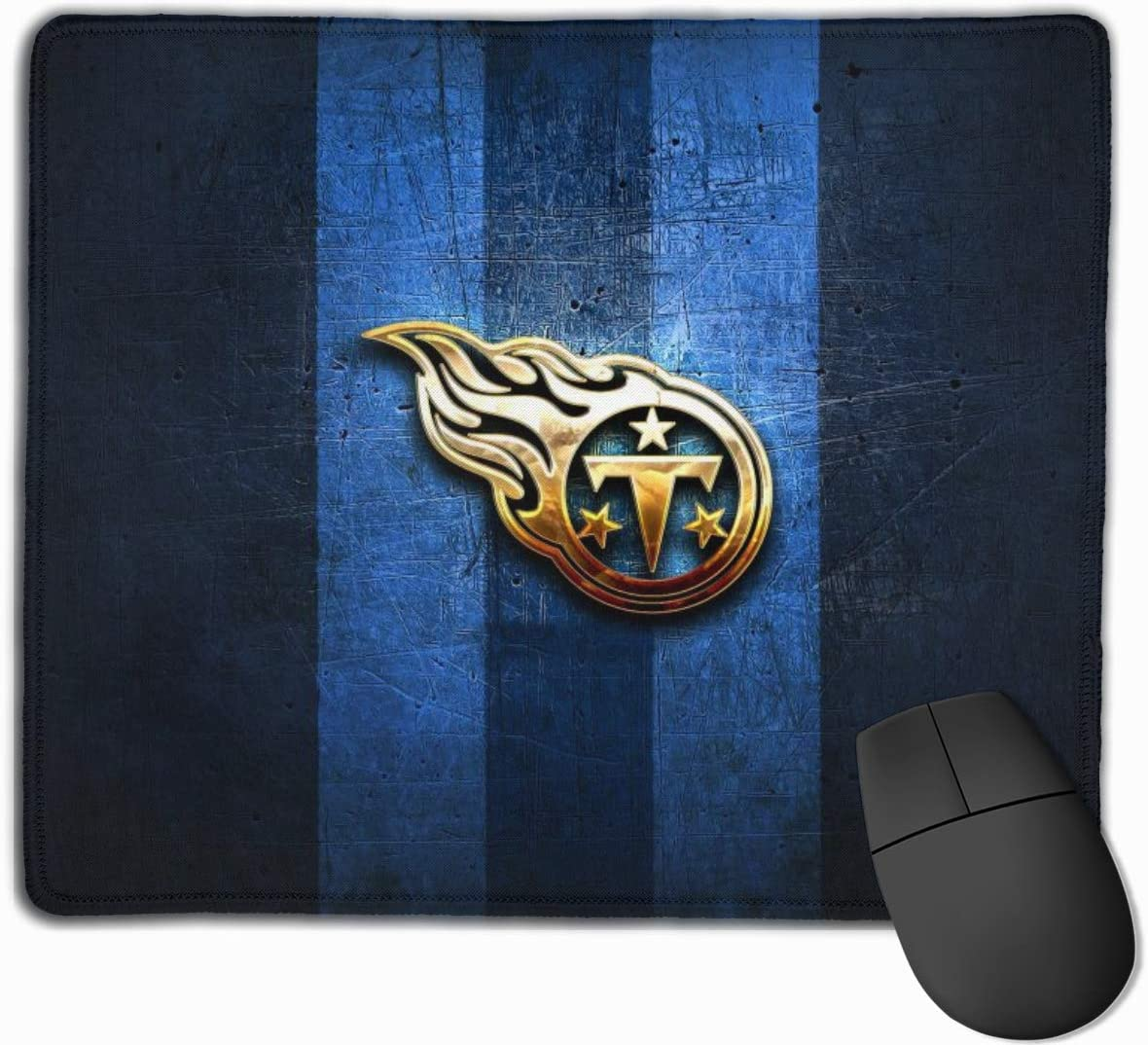 Kanteband Tennessee Titans Non-Slip Rubber Mouse Pad Football Fan Mouse Pad 9.8 Inches X 11.8 Inches