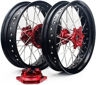 TARAZON 17/17 Front Rear Supermoto Wheels Rims for Suzuki DRZ400SM 2005-2016 DRZ400S DRZ400E 2000-2017 Supermotard Wheels