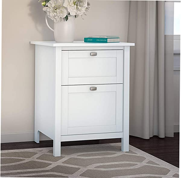 Office Home Furniture Premium Broadview 2 Drawer File Cabinet In Pure White