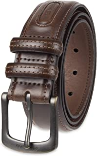 Columbia Men's Classic Logo Belt - Casual Dress with Single Prong Buckle for Jeans Khakis
