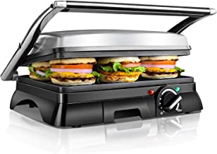 Aigostar Samson 30KLU – Grill, parrilla, panini, 2000W,