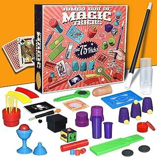 Mumoo Bear Magic Kit Magic Tricks Set, Over 75 Magic Tricks with Toy Wand Magic Set kit for Kids Beginners Birthday Gift