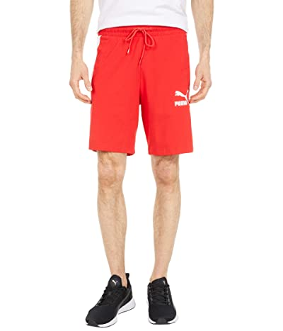 PUMA Iconic T7 8 Jersey Shorts (High Risk Red) Men