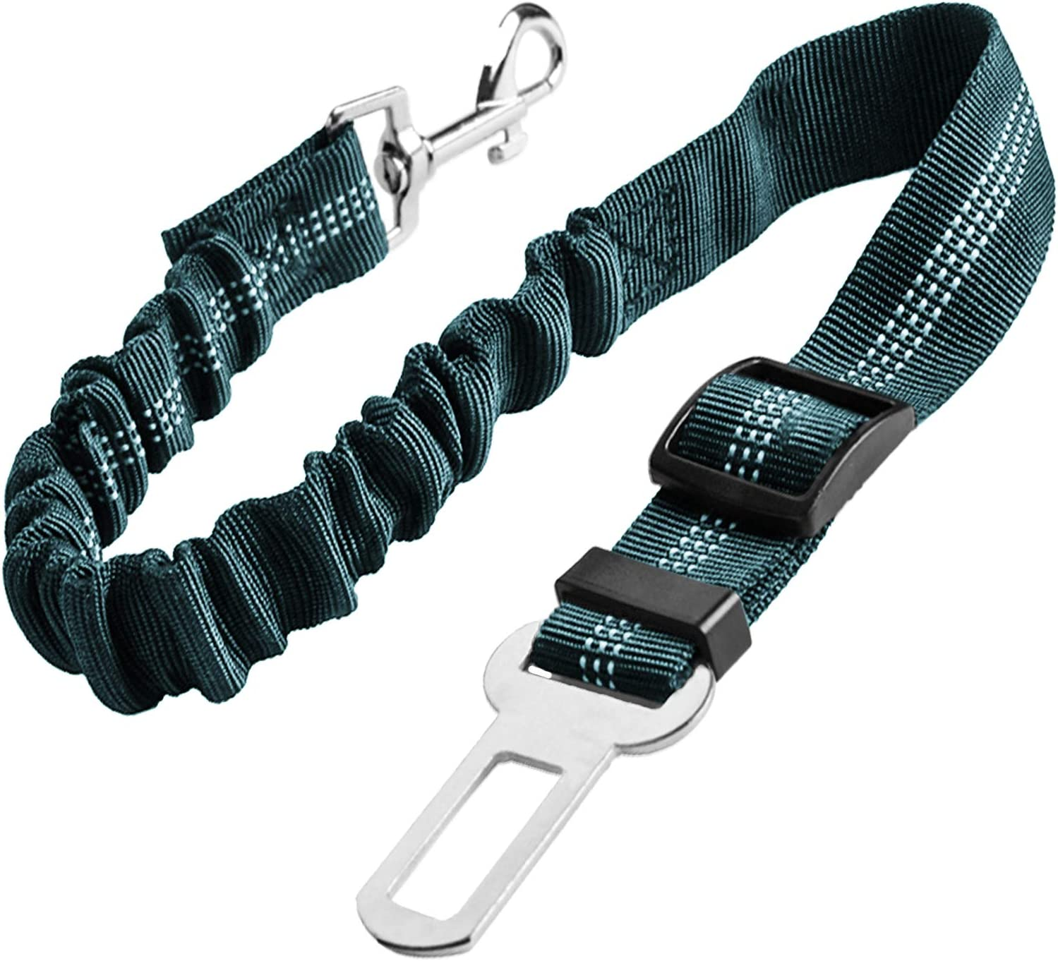 Perfect for Travel and Daily Use with Elastic Nylon Buffer Grey Durable Reflective Pet Vehicle Safety Belt Adjustable Pet Car Harness for Small Medium Large Dogs and Cats Upgraded Dog Seat Belt