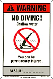 Best no diving signs for pools
