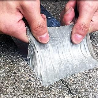 ROSEROSA Professional Waterproof Butyl Rubber Tape External Aluminium Foil Suitable for Roof Leak, Surface Crack, Window Sill Gap, Pipe Rupture, Boat Sealing, Etc (10cm X 5meter)