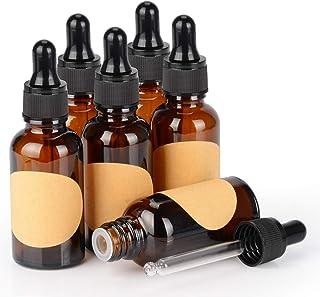 12 unidades cristal y /ámbar para medicina//aromaterapia Botella cuentagotas con pipeta de 10 ml