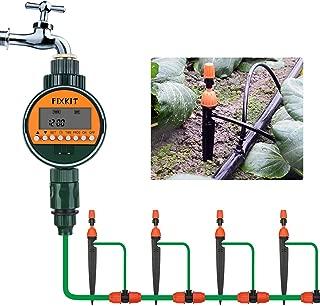 FIXKIT Temporizador de Riego Controlador Inteligente de Riego Temporizador Electrónico de Agua para Irrigación Controlador Digital de Riego Automático con Pantalla LCD