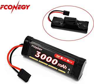 Fconegy NiMH Battery 8.4V 3000mAh 7-Cell Hump Pack with Traxxas Plug for RC Cars, RC Truck/Hobby(One Pack)