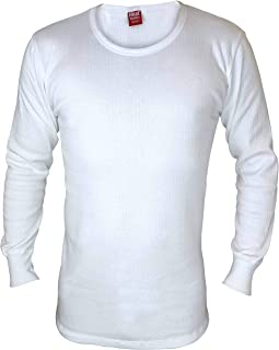 HEAT HOLDERS - Mens Winter Warm Cotton Thermal Underwear Long Sleeve Top Vest