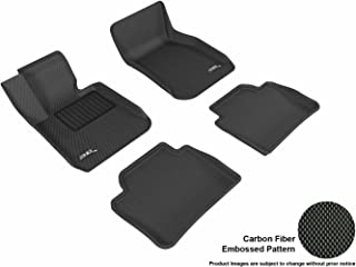 3D MAXpider Complete Set Custom Fit All-Weather Floor Mat for Select BMW 3 Series Sedan (F30) Models - Kagu Rubber (Black)