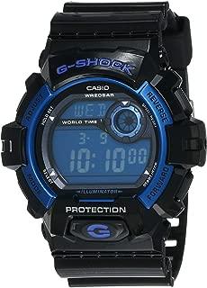 Men's Sport G8900A-1 Black Resin Quartz Watch with Blue Dial