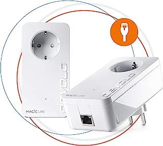 Devolo Magic 2LAN: Powerline ad alte prestazioni, fino a 2400 Mbit/s tramite dLAN per rete domestica, adattatore per presa...